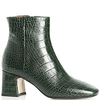 Зеленые ботильоны Bianca Di с квадратным носком, фото