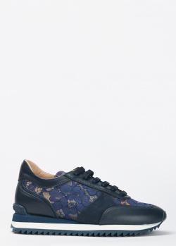 Синие кроссовки Le Silla с кружевными вставками, фото