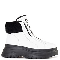 Белые ботинки Bogner с мехом, фото