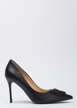 Черные лодочки Baldinini на высоком каблуке, фото