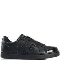 Стеганые кроссовки Trussardi Jeans черного цвета, фото