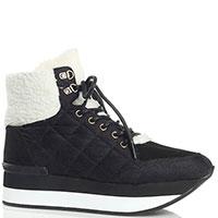 Темно-синие ботинки Trussardi Jeans на толстой подошве, фото