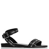 Черные сандалии Liu Jo с логотипом, фото