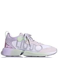 Серые кроссовки Liu Jo из замши и текстиля, фото