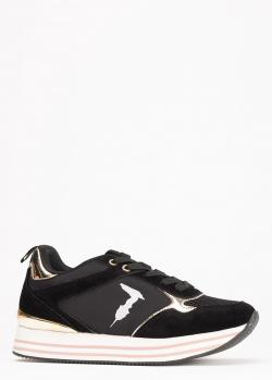 Кроссовки Trussardi Jeans черного цвета, фото