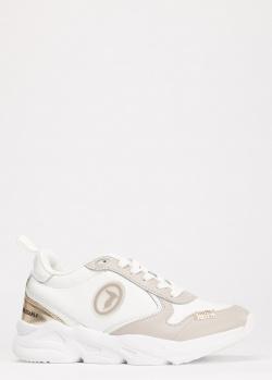 Кроссовки Trussardi Jeans из белой кожи, фото