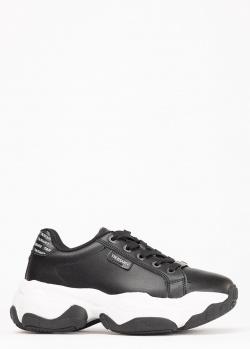 Массивные кроссовки Trussardi Jeans из черной кожи, фото