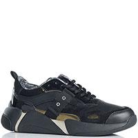 Черные кроссовки Blauer с лаковыми вставками, фото