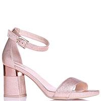 Розовые босоножки Nero Giardini на устойчивом каблуке, фото