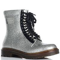 Резиновые ботинки Casadei серебристого цвета, фото