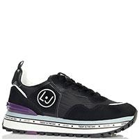 Текстильные кроссовки Liu Jo с замшевыми вставками, фото