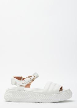 Сандалии из кожи Emporio Armani на платформе, фото