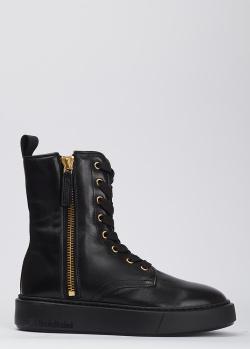 Кожаные ботинки Baldinini черного цвета, фото
