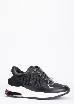 Черные кроссовки Liu Jo на белой подошве, фото