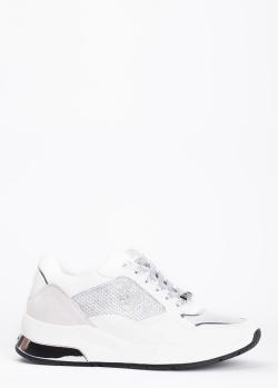 Белые кроссовки Liu Jo с текстильными вставками, фото