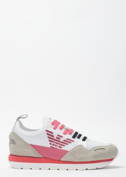 Текстильные кроссовки Emporio Armani с логотипом, фото