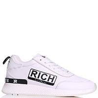 Кроссовки John Richmond из кожи белого цвета, фото