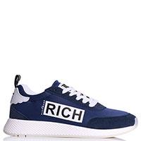 Женские кроссовки John Richmond из текстиля синего цвета, фото