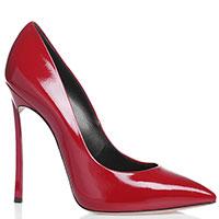 Туфли Casadei из красной кожи, фото