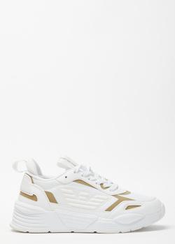 Белые кроссовки Emporio Armani с контрастными деталями, фото