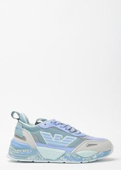 Кроссовки с логотипом Emporio Armani на толстой подошве, фото