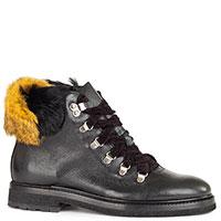 Черные ботинки Camerlengo из зернистой кожи, фото