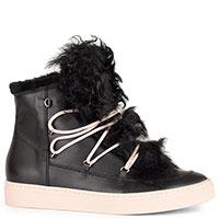 Черные ботинки Camerlengo на розовой шнуровке, фото