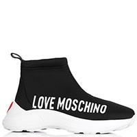 Высокие кроссовки Moschino с логотипом, фото