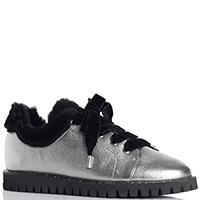 Серебристые туфли Ballin на меху, фото