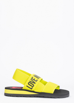 Сандалии Love Moschino неонового цвета, фото