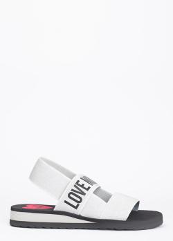 Сандалии Love Moschino в сером цвете, фото