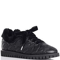 Стеганые черные туфли Ballin со шнуровкой, фото
