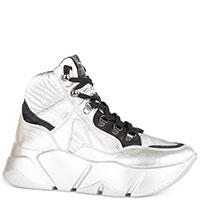 Серебристые ботинки Voile Blanche с черными вставками, фото