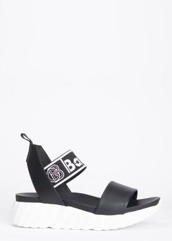 Черные сандалии Baldinini с широкими ремешками, фото