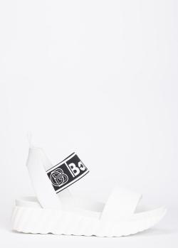 Белые сандалии Baldinini с логотипом, фото