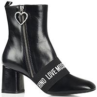 Черные ботильоны Love Moschino из гладкой кожи, фото