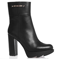 Черные ботильоны Love Moschino на высоком каблуке, фото