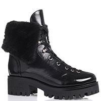 Черные ботинки Love Moschino на низком каблуке , фото
