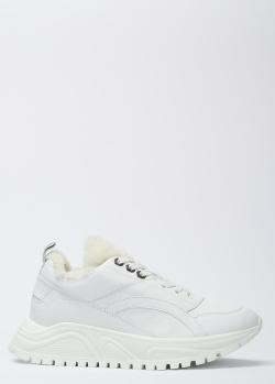 Белые кроссовки Bogner на меху, фото