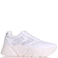 Белые кроссовки Voile Blanche с перфорацией, фото