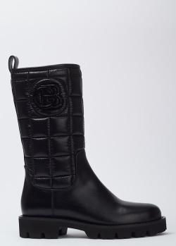 Кожаные сапоги Baldinini черного цвета, фото