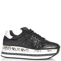 Черные кроссовки Premiata на толстой подошве, фото