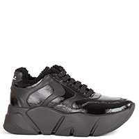 Черные кроссовки Voile Blanche из лаковой кожи, фото