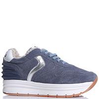Утепленные кроссовки Voile Blanche из замши синего цвета, фото