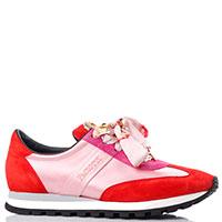 Красные кроссовки Cesare Paciotti с шнурками-лентами, фото