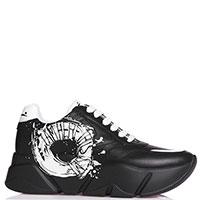Черные кроссовки Voile Blanche с принтом, фото
