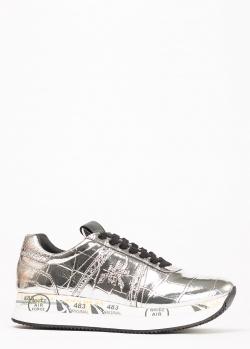 Кроссовки Premiata из кожи серебристого цвета, фото
