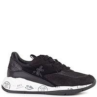 Черные кроссовки Premiata на белой подошве, фото
