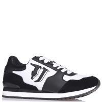 Черные кроссовки Trussardi Jeans с логотипом, фото