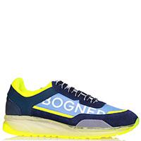 Голубые кроссовки Bogner с желтыми вставками, фото